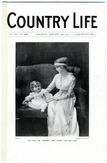 1917 COUNTRY LIFE Magazine MARY HOPE-MORLEY Manderston Duns Scotland WW1 Emperor Charles of Austria (6401)